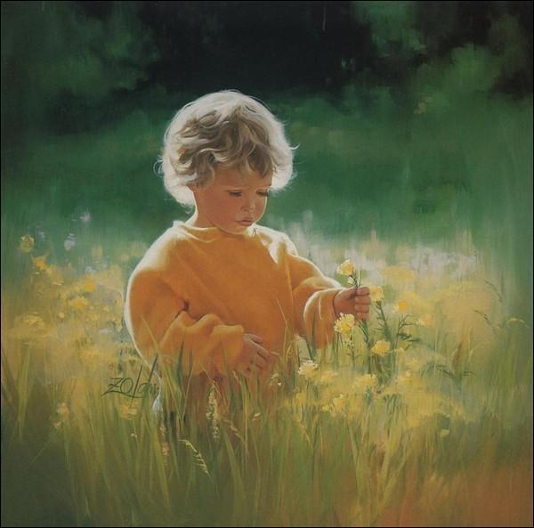 """Qui chantait """"Le petit gars, là-haut sur la colline, venait les contempler en paix"""" ?"""