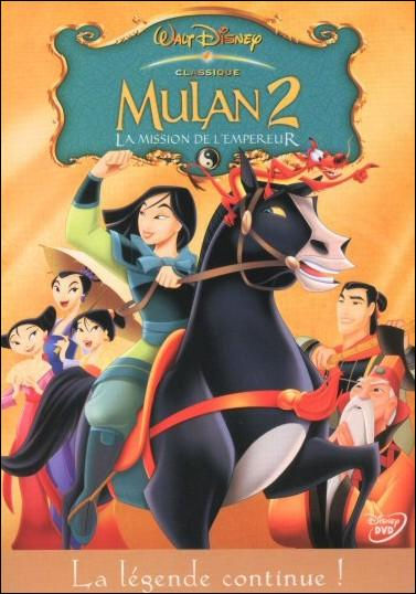 """En quelle année est sorti le film """"Mulan 2 : La Mission de l'Empereur ?"""