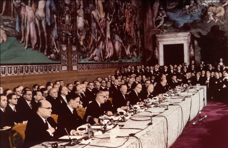 En quelle année le traité de Rome eut-il lieu ?