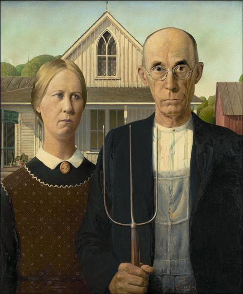 """A quel peintre américain doit-on cette toile intitulée """"American gothic"""" (1930) ?"""