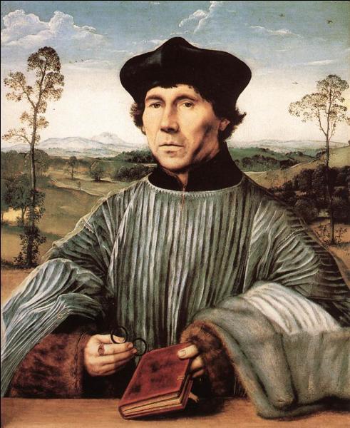 """Quel peintre primitif flamand est l'auteur de """"Portrait d'un chanoine"""", réalisé en 1510 ?"""