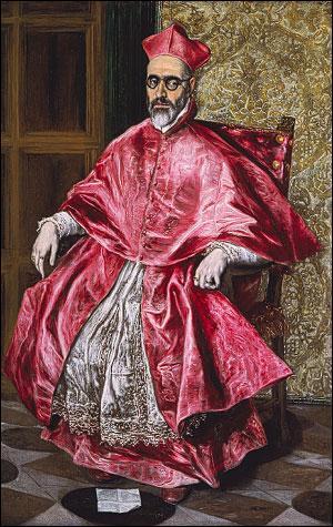 Quel peintre né en Crète a réalisé ce portrait d'un cardinal en 1596 ?
