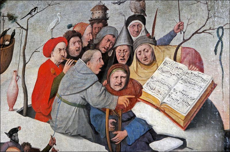 """Auteur, sur le même thème, du célèbre tableau """"La Nef des fous"""", il a réalisé """"Le Concert dans l'œuf"""". Qui est ce peintre ?"""