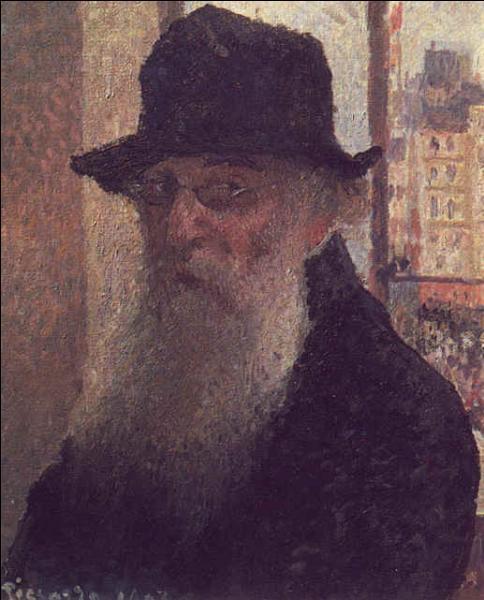 Quel grand peintre impressionniste s'est représenté sur cet autoportrait ?