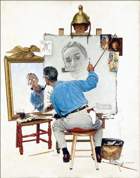 """Quel peintre et illustrateur américain a réalisé """"Triple autoportrait"""" en 1960 ?"""