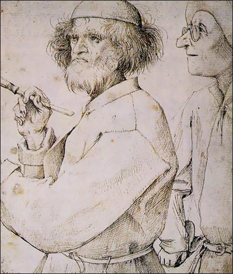 """""""Le Peintre et l'acheteur"""" est un autoportrait d'un grand peintre flamand de la Renaissance. De qui s'agit-il ?"""