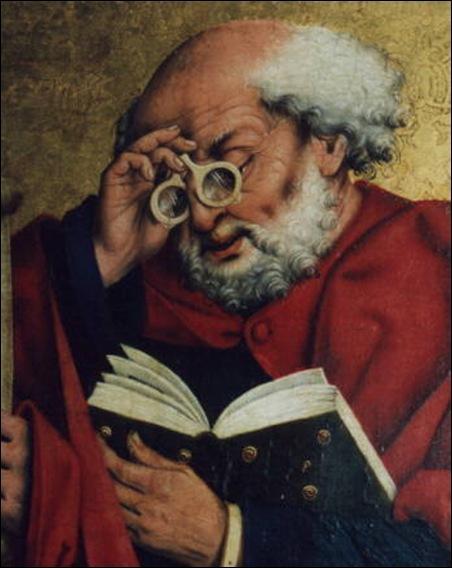 """Quel peintre allemand du Moyen-Âge réalisa, en 1466, ce portrait de """"Saint Pierre lisant"""" ?"""