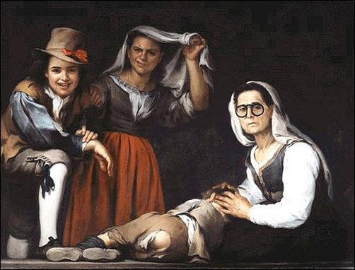 """Ce peintre baroque espagnol du 17e siècle est très connu pour ses peintures de genre. On lui doit """"Quatre personnages sur une marche d'escalier"""". Qui est-il ?"""