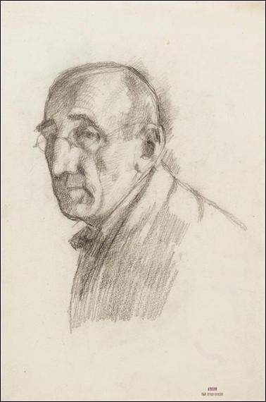 Quel peintre pointilliste belge s'est représenté dans cet autoportrait ?