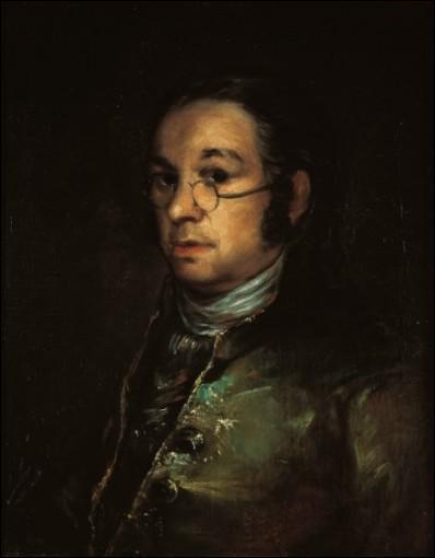 """Il a 52 ans sur cet """"Autoportrait aux lunettes"""". Qui est ce peintre espagnol grand représentant du mouvement romantique au 18e siècle ?"""