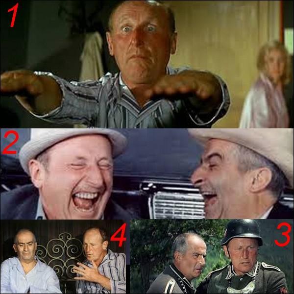 """Parmi ces quatre images laquelle n'appartient pas au film : """"La grande vadrouille"""" ?"""