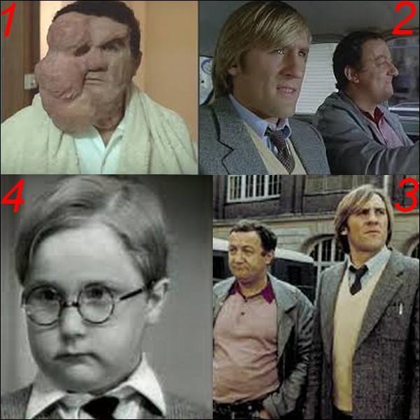 """Parmi ces quatre images laquelle n'appartient pas au film : """"Inspecteur la bavure"""" ?"""