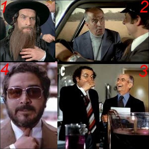 """Parmi ces quatre images laquelle n'appartient pas au film : """"Les aventures de Rabbi Jacob"""" ?"""