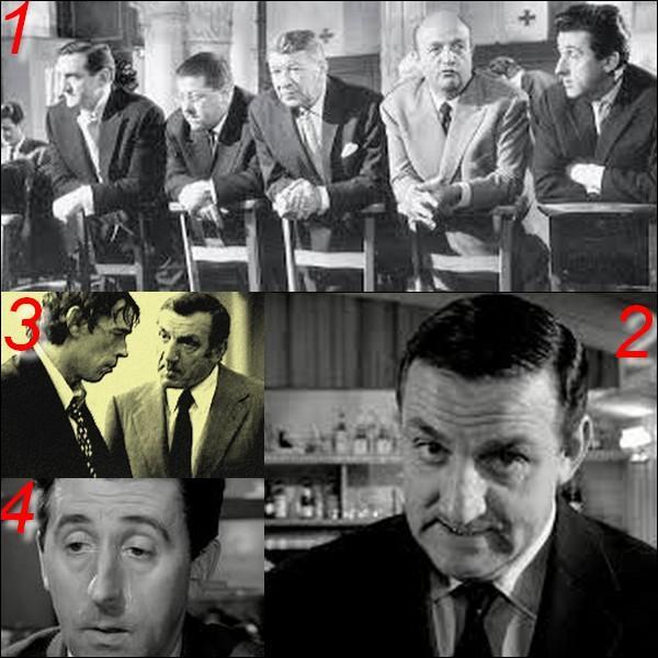 """Parmi ces quatre images laquelle n'appartient pas au film : """"Les tontons flingueurs"""" ?"""