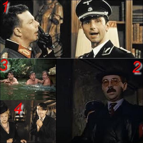 """Parmi ces quatre images laquelle n'appartient pas au film : """"Papy fait de la résistance"""" ?"""