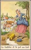"""Comment s'appelle la jeune laitière qui a brisé le """"pot au lait"""" dans la fable de La Fontaine ?"""