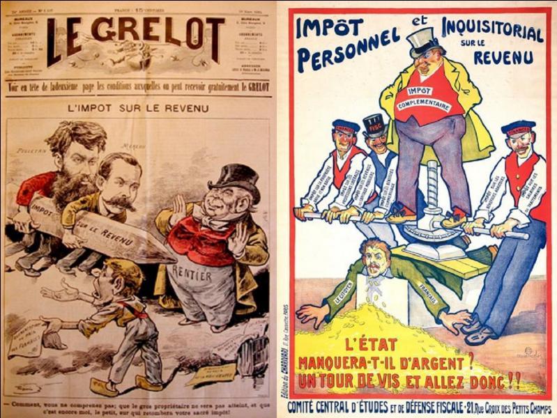 Le 1e janvier 1916, il est appliqué pour la 1e fois en France une nouvelle loi concernant la politique fiscale de notre pays. Cette loi date de juillet 1914 et est encore en place actuellement. D'ailleurs, elle fait encore « râler » ! Quelle est cette loi ?