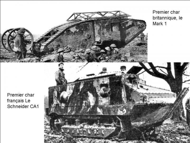 Le 14 juin le général Joffre prend une décision qui changera le cours de la guerre au cours de 1917 et 1918. Cette décision prendra la forme d'une nouvelle arme, qui est, suivant certains militaires français est le rassemblement d'un véhicule et d'un canon. Quelle est cette arme ?