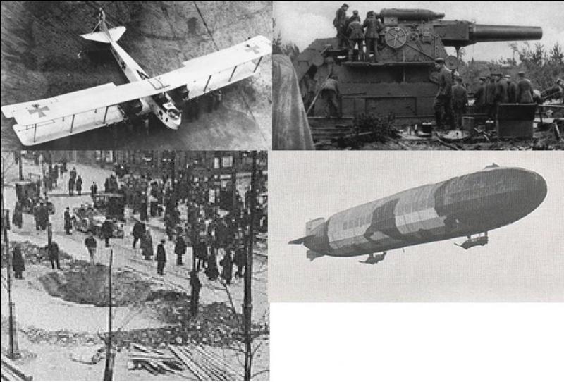 Le 29 janvier 1916, Paris est bombardé. Cette attaque fera 26 morts et 32 blessés. Avec quelle arme les Allemands bombarderont-ils la capitale ?
