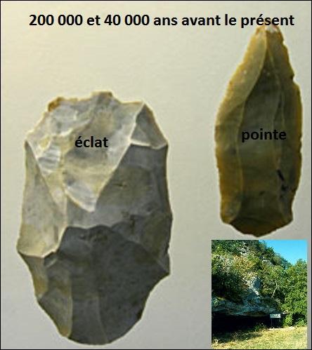 Où se trouve le site préhistorique nommé Le Moustier ?