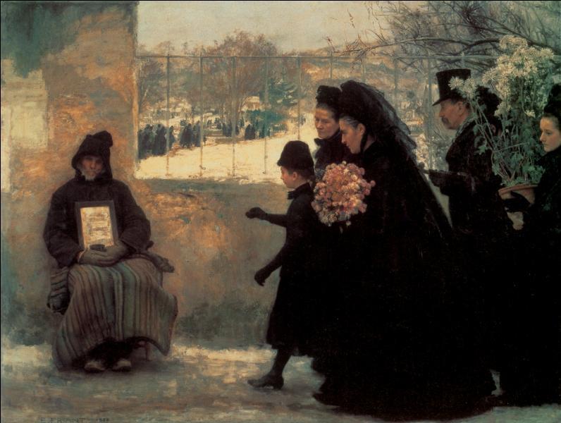 """Qui a peint ce tableau représentant un 1er novembre et nommé """"Toussaint"""" ?"""