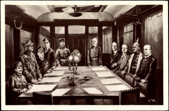 Le 11 novembre 1918, l'armistice mettant fin à la première guerre mondiale fut signé, qui y participa ?
