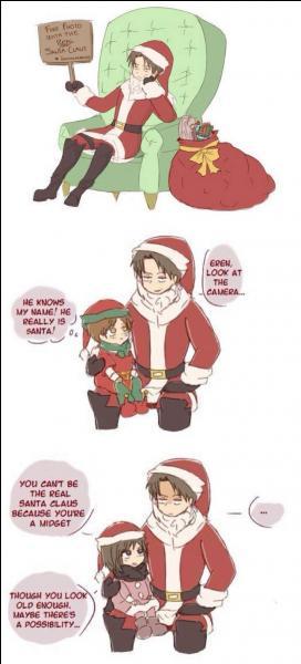 Livaï se déguise en père Noël ! Qui s'est rendu compte de la supercherie ?