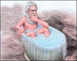 ''Archimède s'est écrié : ''------------------------'' parce qu'il venait de retrouver son savon.'' (Complétez)