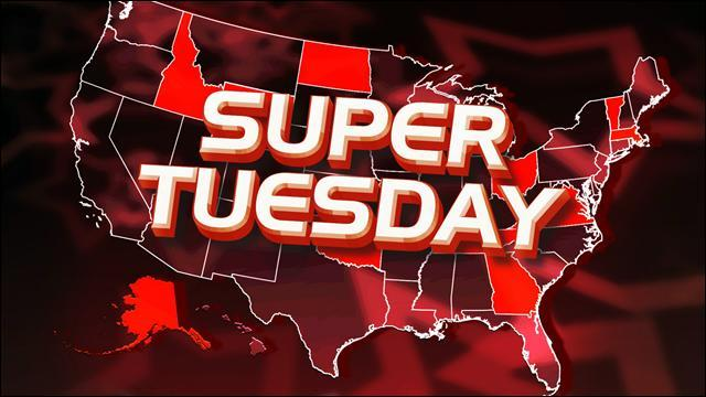 Le mardi nommé Super Tuesday correspond à la journée où les électeurs des ------- américains votent pour ------ les candidats à l'élection -------.