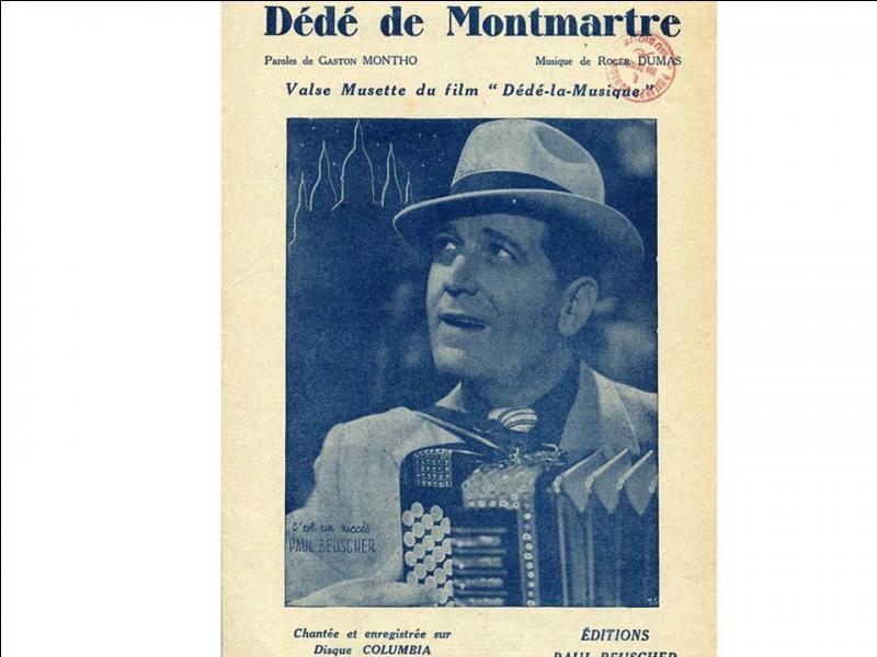 """Le 1er novembre 1979 : décès à Paris, de l'acteur et chanteur ... qui a joué en 1930 dans """"Sous les toits de Paris"""", premier film parlant de René Clair !"""