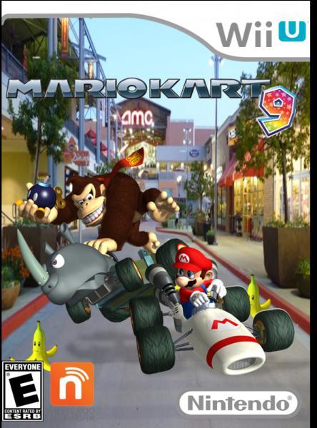 """Youpi ! """"Mario Kart 9"""" existe ! ... Non, ce n'est pas le vrai car l'image vient d'un autre """"Mario Kart"""" ! Lequel ?"""