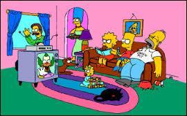 Comment s'appelle le dessin animé qui fait hurler de rire Bart et Lisa ?