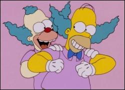 """Le célèbre clown dans """"Les Simpson"""" s'appelle :"""