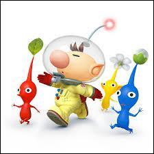 Quel est le personnage avec des petites bêtes toutes mignonnes appelées pikmins ?