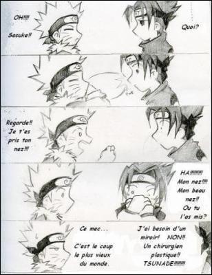 Pourquoi Sasuke s'affole-t-il ?