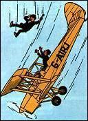 Dans quel album, Dupond et Dupont réalisent-ils involontairement un fantastique numéro d'acrobatie aérienne ?