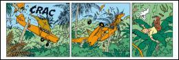 Dans quel album, Tintin est-il victime d'un terrible crash dans la jungle ?