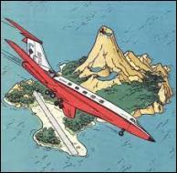 Quel est le nom de l'avion détourné sur l'île de Pulau-Pulau Bompa à bord duquel se trouvent Tintin et ses amis ?