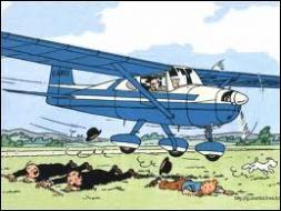 """Dans l'album """"L'île noire"""", quel ennemi de Tintin prend la fuite dans un Cessna 150 ?"""