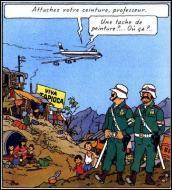 Quel pays dictatorial Tintin survole-t-il à bord d'un Boeing 747 ?