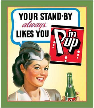 """Serait-ce depuis cette affiche des années 50 que le nom de """"Pin-up"""" est devenu célèbre ?"""