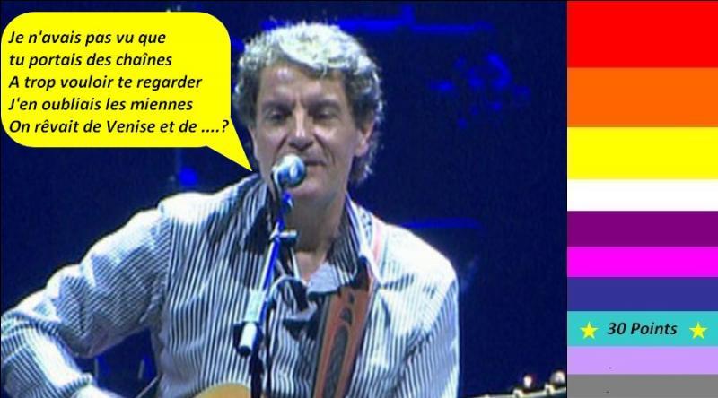 """Pour 30 points, en 1980, Francis Cabrel nous chante """"L'encre de tes yeux"""". Quelle est la bonne parole de la chanson ?"""