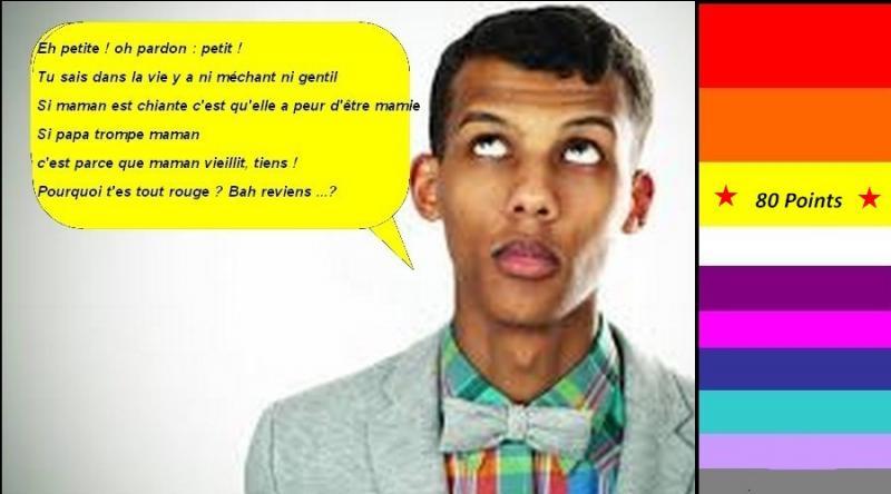 """Pour 80 points, en 2013, Stromae nous chante """"Formidable"""". Quelle est la bonne parole de la chanson ?"""