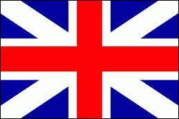 """A quel pays appartient ce drapeau constitué d'une croix rouge au fond blanc avec des """"triangles"""" bleus ?"""