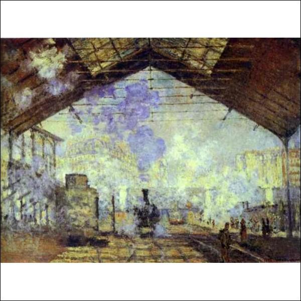 Lequel de ces peintres impressionnistes a immortalisé cette même gare ?