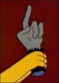 """Dans un épisode """"horror show"""" qui sauve Springfield grâce à une patte de singe ?"""