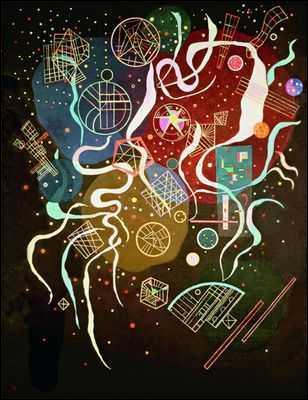 """Impossible de l'oublier celui-là ! C'est le tableau """"Mouvement n°1"""" (1935) du fameux :"""