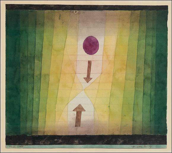 """À l'entrée de la deuxième salle, nous avons affaire à un bien étrange tableau intitulé """"Vor dem Blitz"""" de :"""