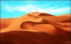 """Lequel de ces termes anglais n'est pas synonyme du """"désert"""" ?"""