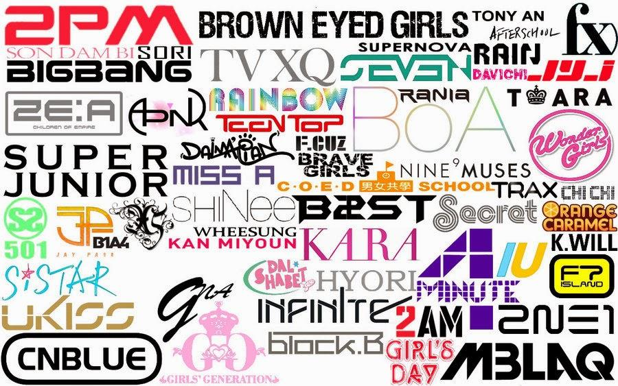 Les logos des groupes de Kpop